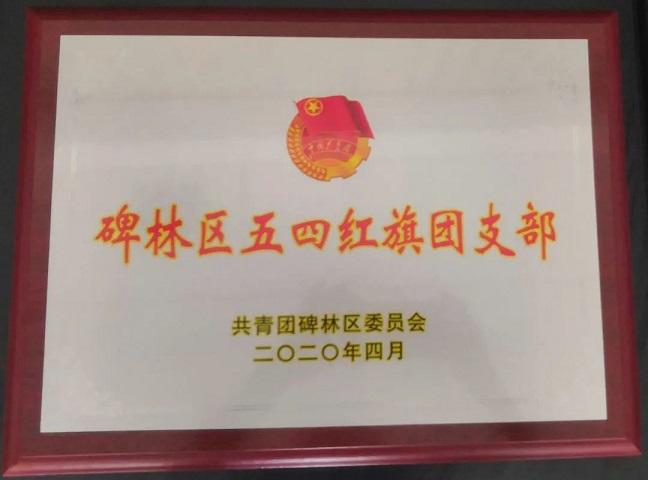 """西安贝博ballbet贝博app下载团委被授予""""贝博区五四红旗团委""""称号"""